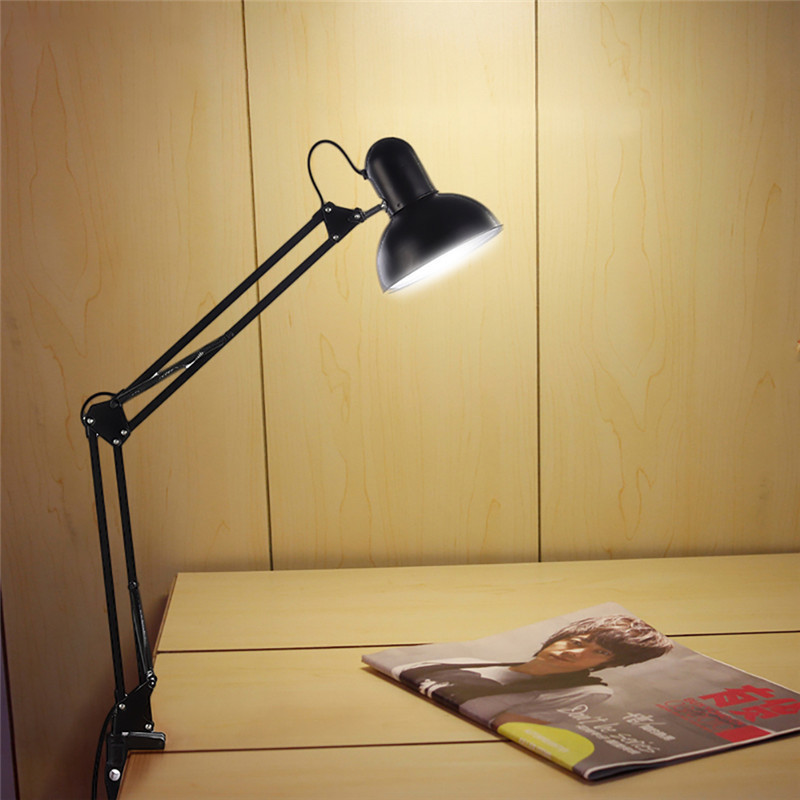 HUANJUNSHI Desk Lamp Flexible Led Desk Lamp Home Office Led Table Lamp Metal Architect Adjustable Folding Reading Light ascelina vintage led desk lamp wooden table lamp flexible adjustable reading light office home decoration lighting button switch