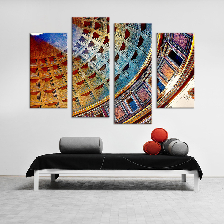 Italy Wall Art hot sells 4pcs hd coliseum, rome, italy wall art picture home