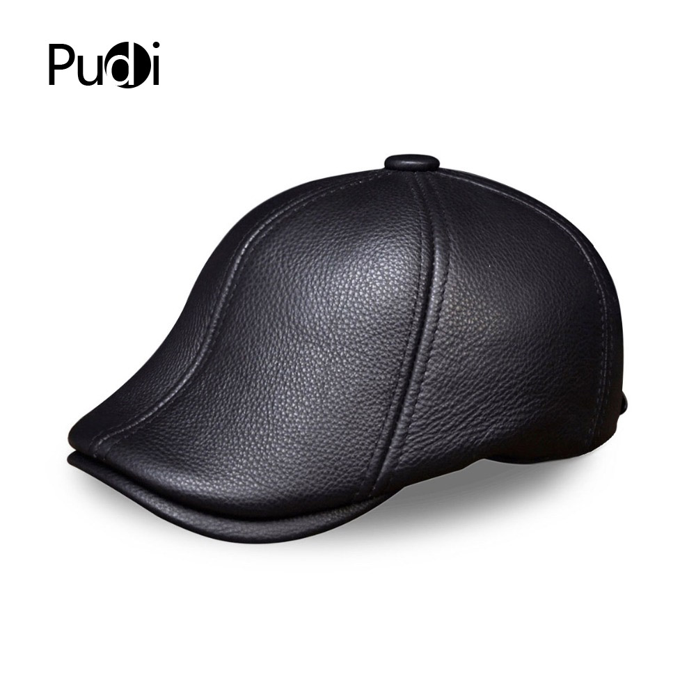 HL110 orijinal dəri kişi beysbol şapka kişilərin əsl dəri - Geyim aksesuarları - Fotoqrafiya 5