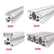 4pcs/lot 2020 Aluminum Profile 2020 Extrusion European Standard Anodized Linear Rail Aluminum Profile 2020 CNC 3D Printer Parts
