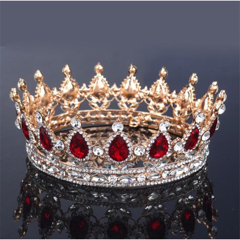 Vintage Barok Kraliçası Gəlin Tiara Crown Qadınlar Üçün - Moda zərgərlik - Fotoqrafiya 2
