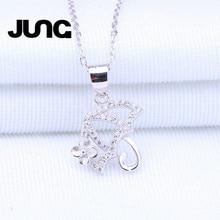 Fashion AAA Zircon Flower Umbrella Elegant 925 Sterling Silver Jewelry Sexy Chain Pendant Necklace Women Collier Choker Collar