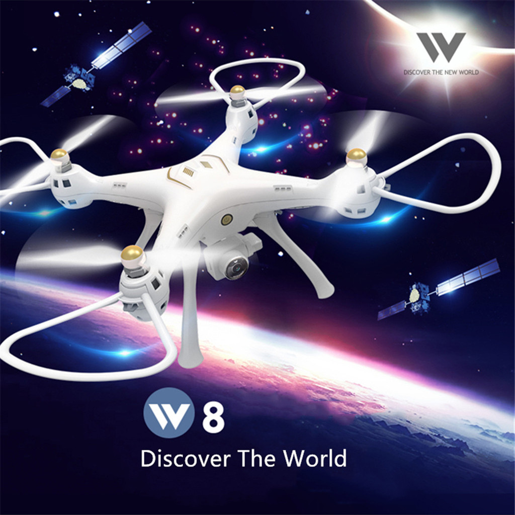 Attop W8 5G Wifi GPS FPV HD 720P1080P Wide Angle Camera Smart Follow Drones With Camera HD Flying Minion Rc Quadcopter