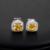 Princesa corte simulado diamante Set Zircon jóias para mulheres de casamento e noivado OS67