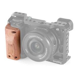 Image 2 - Petite Cage de caméra a6400 poignée en bois pour Sony A6400 poignée en bois à dégagement rapide 2318