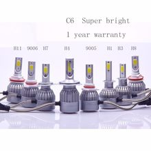 72W COB H7 H1 H4 H3 H11 H8 H9 9005 9006 9007 9012 880 C6 Headlamp Light Golden Car HeadLight Bulbs 3000K 6000K Led lamp 12V 24V(China)