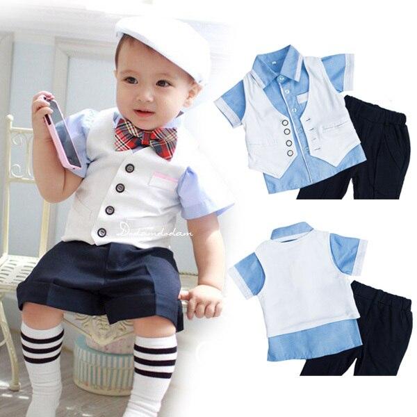 DHL EMS bebés envío libre Toddlers nuevos Caballeros 3 Unid traje ...