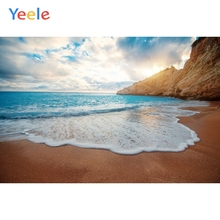 Yeele Wallpaper Seascape Beach White Waves Blue Sky Photography Backdrops Personalized Photographic Backgrounds For Photo Studio