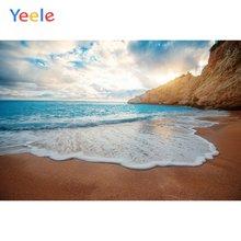Фоны для фотосъемки yeele с изображением Морского Пейзажа пляжа