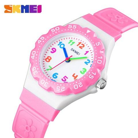 SKMEI NEW Kids Watches Outdoor Sports Wristwtatch Boys Girls Waterproof PU Wristband Quartz Children Watches 1483 reloj Pakistan