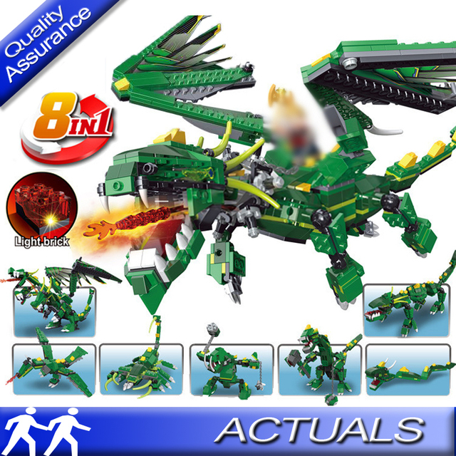 US $16 49 |8 in 1 Decool 3121 Compatible with Lego Creator Mythical  Creatures Building Blocks Flying Dragon Dinosaur Model Bricks DIY Toys-in  Blocks