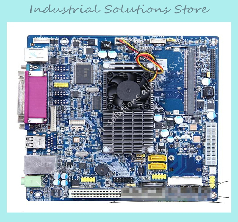 D525 2COM Mini Industrial Motherboard Pos Household Work Package 100% tested perfect quality mini itx motherboard embedded industrial motherboard epia m830 ultra thin dual channel lvds 100% tested perfect quality