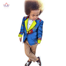 0fc18e43ac326f 2018 African Clothing kids dashiki Traditional cotton coat Matching Africa  Print Children top baby clothes cotton