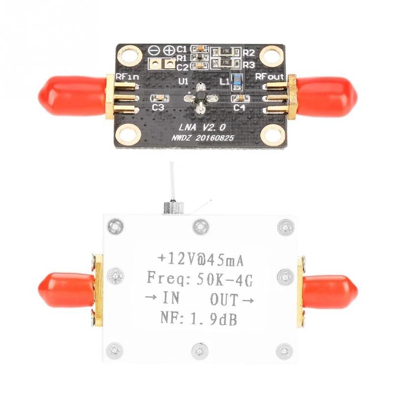 LNA Low Noise Amplifier 50K-4G High Gain 25DB 0.8G Ham Radio Module