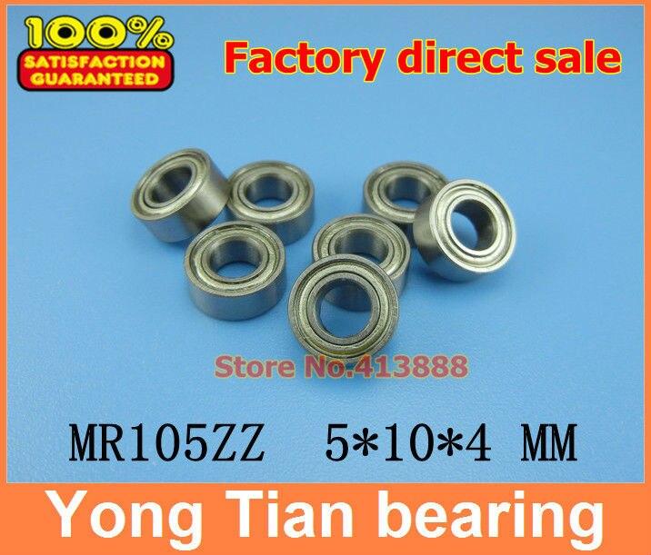 Free Shipping 10 PCS MR105ZZ ABEC-5 5X10X4 mm Deep groove Ball Bearings MR105 / L-1050 ZZ gcr15 6326 zz or 6326 2rs 130x280x58mm high precision deep groove ball bearings abec 1 p0