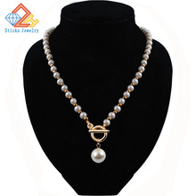 Promotional items! Fashion imitation pearl necklace string CCB / cross necklace, girl jewelry, free shipping