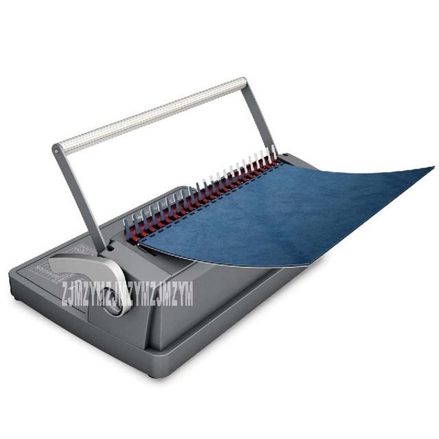 CB-122 urządzenie do wiązania włosów CB-122 instrukcja A4 wiąże 450 arkuszy stemple 12 arkuszy/2 arkusze pokrywa pcv biuro grzebień typu wykrawania