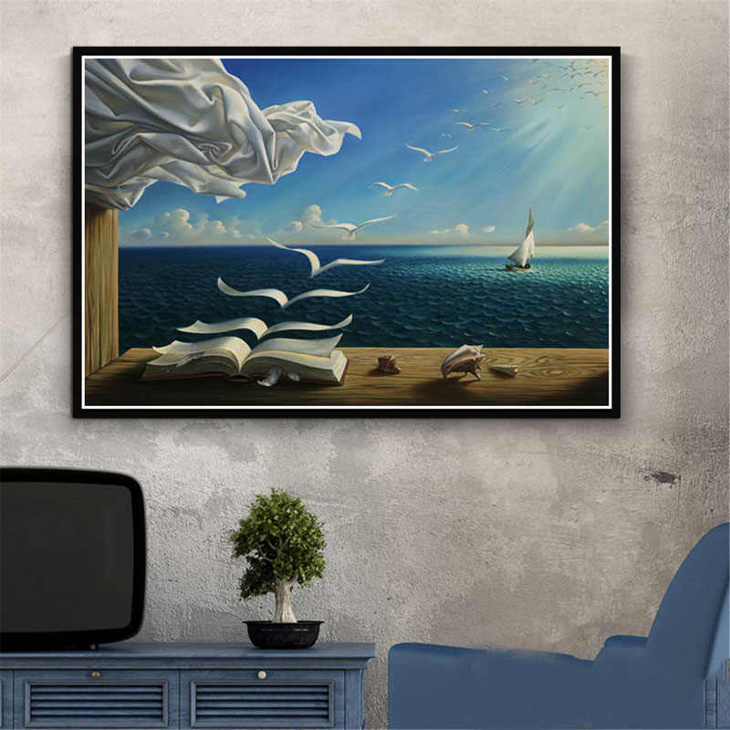 Poster And Prints Retro Painting Art Salvador Dali Surrealism Abstract Modern Canvas Wall Pictures For Living Room Home Decor