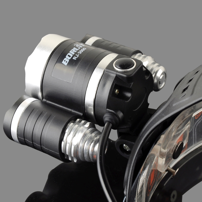YAM 8000LM Zoomable 3 LED Rechargeable 18650 Headlamp Head Light Torch EU Plug