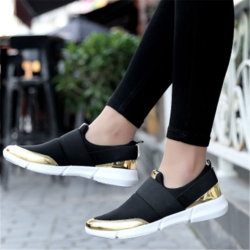 Women Casual loafers Breathable Summer Flat Shoes Woman Slip on Casual Shoes New Zapatillas Flats Shoes Size 35-42 akexiya casual women loafers platform breathable slip on flats shoes woman floral lace ladies flat canvas shoes size plus 35 43