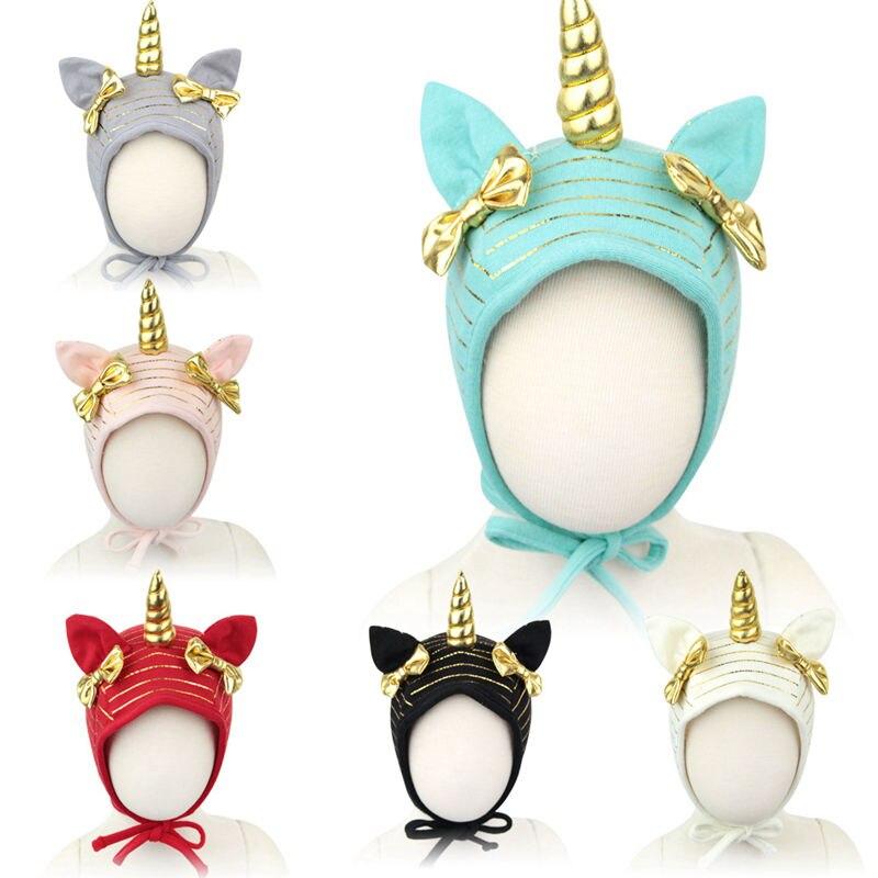 Bnaturalwell Mint Baby Unicorn Hat Kids Baby Soft Cotton Beanie Girl Boy Toddler Infant Warm Cap unicorn hat Oatmeal H091S