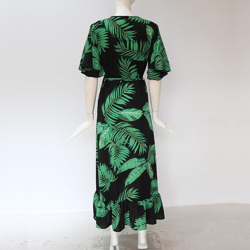 Boho V-Neck Maxi Dress