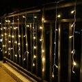 Праздник СВЕТОДИОДНЫЕ Строки 4 М * 0.6 М 120 LED Занавес Рождество Свадьба Фея Огни открытый Украшения Сада