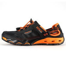Summer Fashion Sandals Men Outdoor Leather Mesh Beach Breathable Mens Shoes Luxury Brand Wear Casual Man Shoes Big Size 36-45