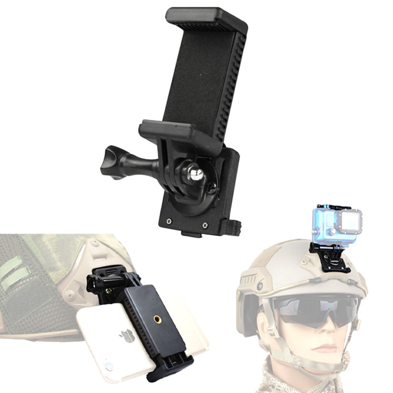 Tactical Helmet Accessories NVG Mount Base Connecter Adapter Fixed Mount for Mobile Phone Gopro Hero 1 2 3 4 Camera