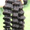 Мягкие волосы продукты необработанные девственницы бразильские deep вьющиеся weave волос девственницы дешевые 4 шт. много бесплатная доставка бразильской глубокая волна