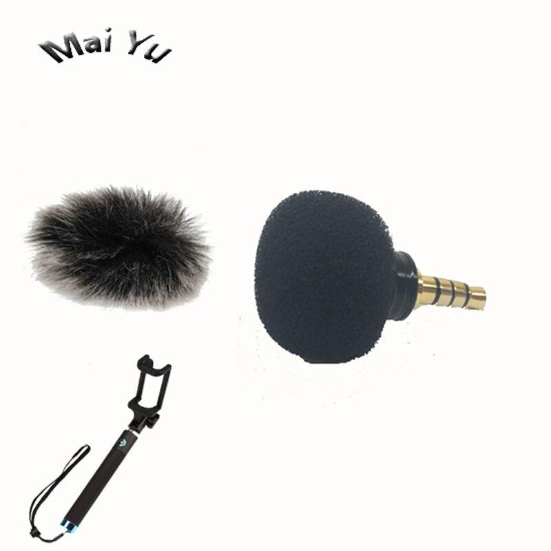 Professzionális fekete mini mobiltelefon mikrofon kondenzátor - Hordozható audió és videó
