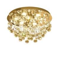 Modern K9 Crystal Chandelier Round LED Crystal Ceiling chandelier Living Room Light Indoor Lighting 90 260v Free Shipping
