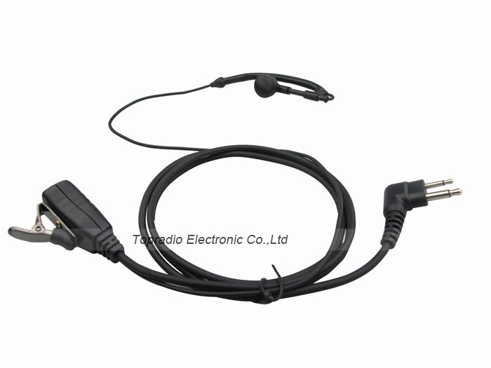 Topradio Two Way Radio Earpiece 2 Pin Ear Hook Headset For