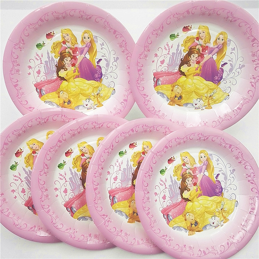 6 шт./компл. принцессы бумажные тарелки дети с днем рождения вечерние свадебные украшения Princess пластин ребенок душ посуда вечерние сувениры