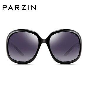 Image 2 - بارزين نظارات شمسية للنساء ماركة مصمم انيق إطار كبير مستقطب نظارات شمسية للنساء UV 400 ظلال للسيدات مع حافظة