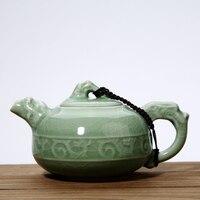 Teapot Ceramic Ge Kiln Ice Cracked Open Kettle Purple Sand Manual Kung Fu Tea Set Drinking Tea Cup Single Pot 39