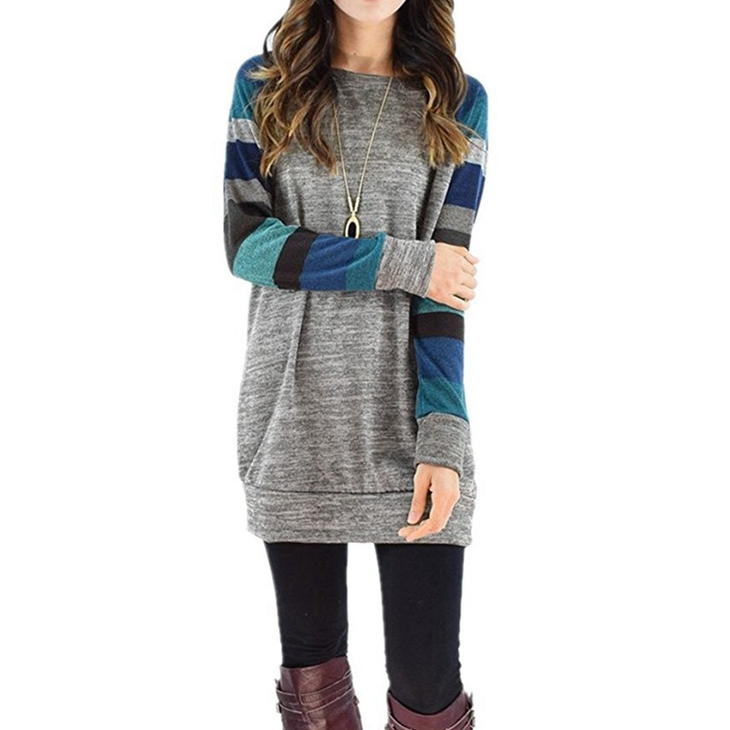 LASPERAL-2017-Autumn-Winter-Tee-Shirt-Women-Long-Sleeve-O-Neck-Striped-Patchwrork-T-Shirt-Casual (2)