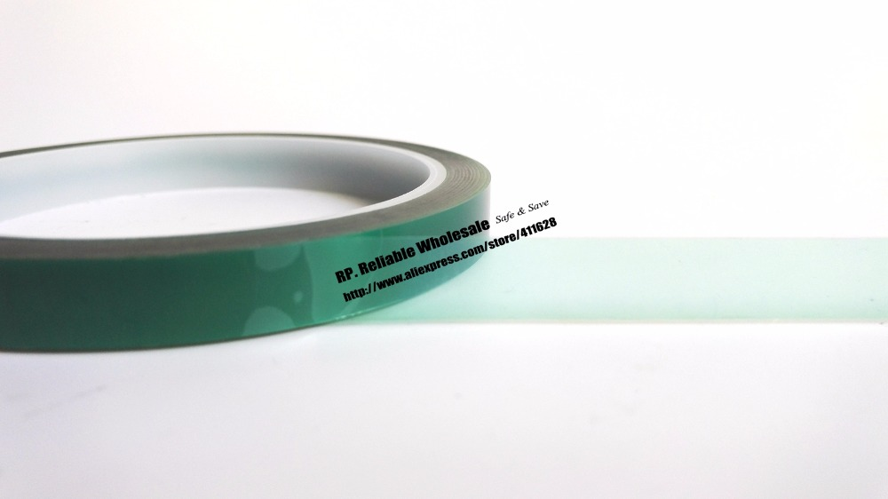 35mm*33 meters*0.08mm One Side Thermal Resist Sticky PET Polyester Film Tape for Prevent Electroplating Liquid Infiltration 110mm 33 meters 0 08mm single side heat resist sticky pet polyester film tape for protection