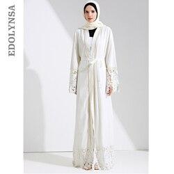 Дубай Абая, для мусульман платье плюс Размеры халат Вязание Дубай платья абайя Кафтан платья абайя модный бренд мусульманское платье # D281