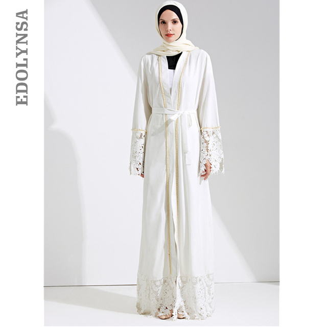 Dubai Abaya Muslim Dress Solid Plus Size Robe Knitting Dubai Abaya ...