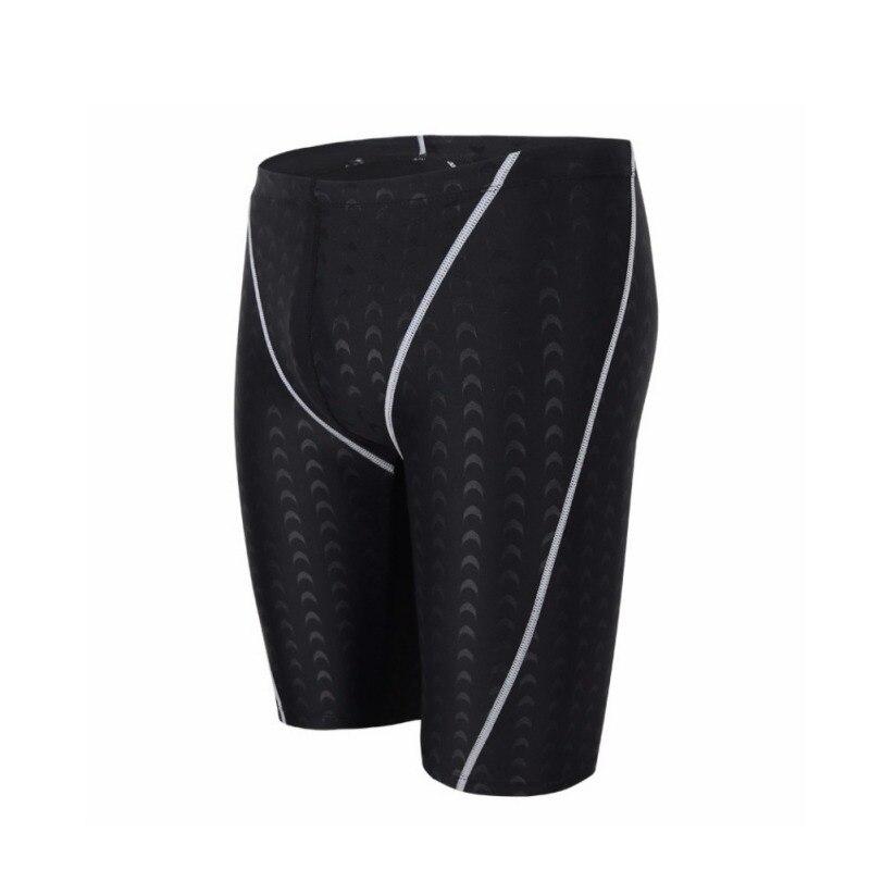 Professional Black Waterproof Men Competitive Swim Sports Trunks Elastic Swimwear Men's Briefs Plus Size