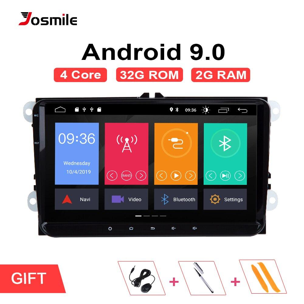 2din Android 9.0 GPS AutoRadio pour Skoda Octavia 2 Passat B6 VW T5 Polo Amarok Volkswagen superbe 3 places Leon Golf 5 6 multimédia