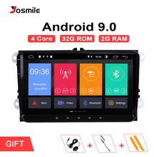 2DIN Android 9.0 GPS AutoRadio สำหรับ Skoda Octavia 2 Passat B6 VW T5 โปโล Amarok Volkswagen Superb 3 ที่นั่ง Leon golf 5 6 มัลติมีเดีย