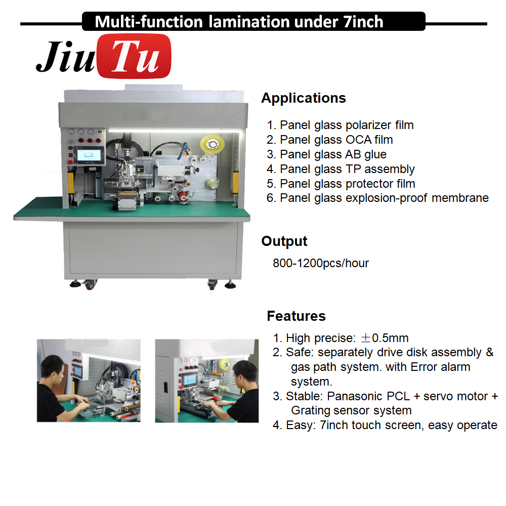 Full Automatic Film Lamination Machine Mobile LCD Panel Glass OCA Film Polarizer Film Phone Repair Machine jiu(12)