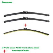 """Senwanse передние и задние щетки стеклоочистителя для Volvo XC90 2007-2010 Дворники для лобового стекла 2""""+ 22""""+ 15"""""""