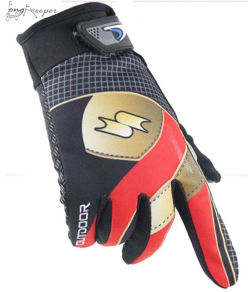 LongKeeper Touch Screen Motorcycling Gloves Full Finger Sunscreen Mittens Non-Slip Outdoor Training Gloves