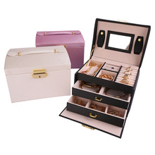Jewelry & Make Up Boxes And Packaging PU Leather Storage
