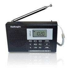 Taşınabilir tam bant dijital ayar çok bantlı Stereo Tuner MW/AM/FM/SW kısa dalga radyo REC kontrol alıcı