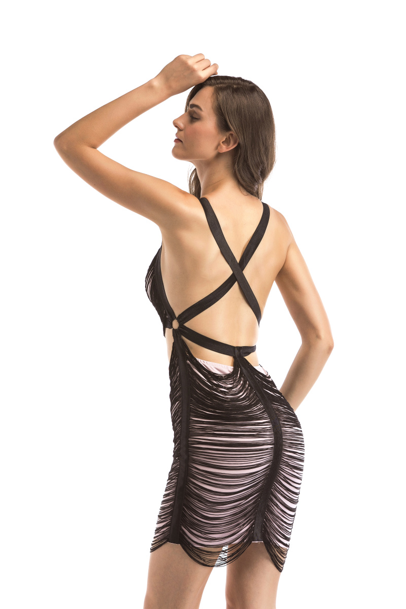 1a73c52d4374 Reaqka Novelty Woman Sexy Club Wear Off Shoulder Tassel Summer Dress ...