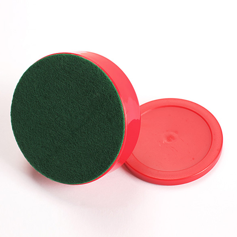 Newly 2 Pcs/Set 75mm Air Hockey Table Felt Pusher With 63mm Puck Mallet Goalies BF88